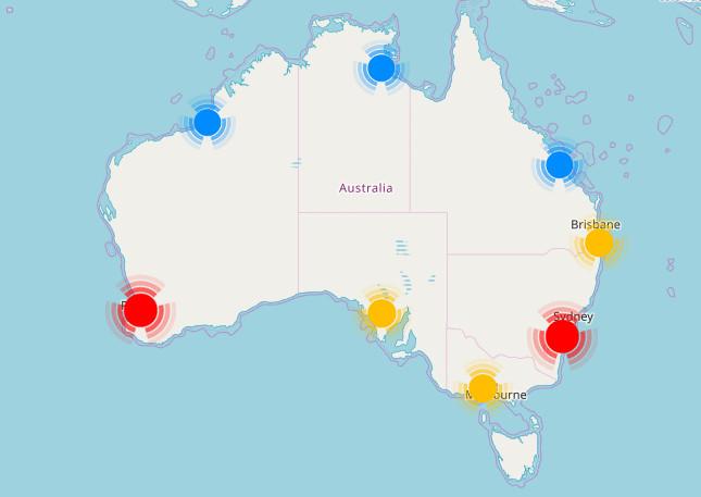 australia staticmap
