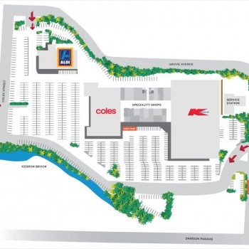 Plan of Arana Hills Plaza