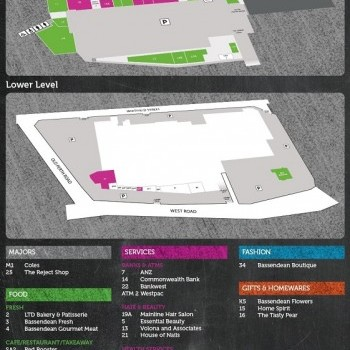 Plan of Bassendean Shopping Village