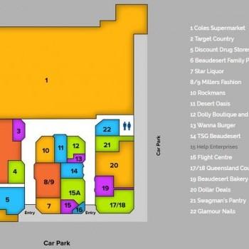 Plan of Beaudesert Fair Shopping Centre