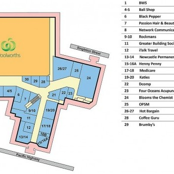 Plan of Belmont Central Shopping Centre