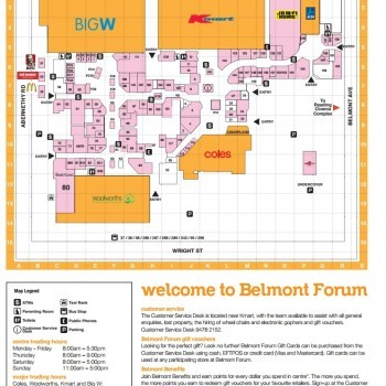 Plan of Belmont Forum Shopping Centre