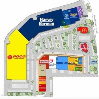 Plan of Blacktown Mega Centre