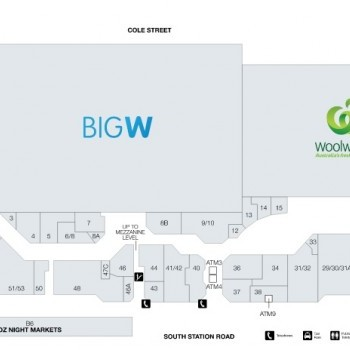 Plan of Booval Fair Shopping Centre