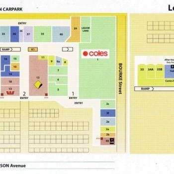Plan of Bulleen Plaza