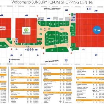 Plan of Bunbury Forum