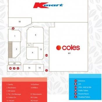 Plan of Burnie Plaza