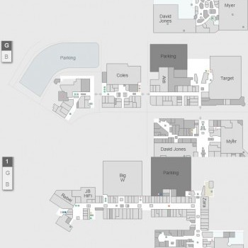 Plan of Canberra Centre