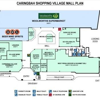 Plan of Caringbah Shopping Village