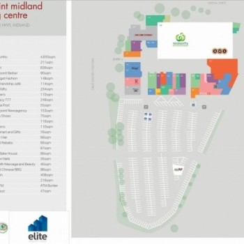 Plan of Centrepoint Midland Shopping Centre