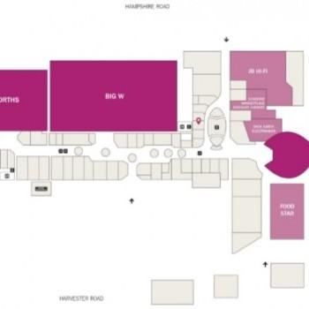 Plan of Centro Sunshine Marketplace