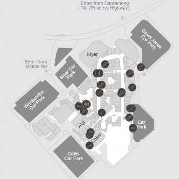 Plan of Chadstone Shopping Centre