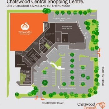 Plan of Chatswood Central Shopping Centre