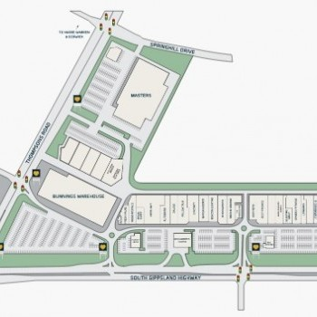Plan of Cranbourne Homemaker Centre