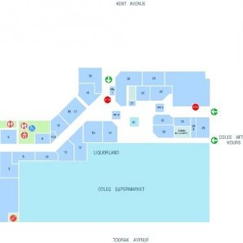 Plan of Croydon Central Shopping Centre