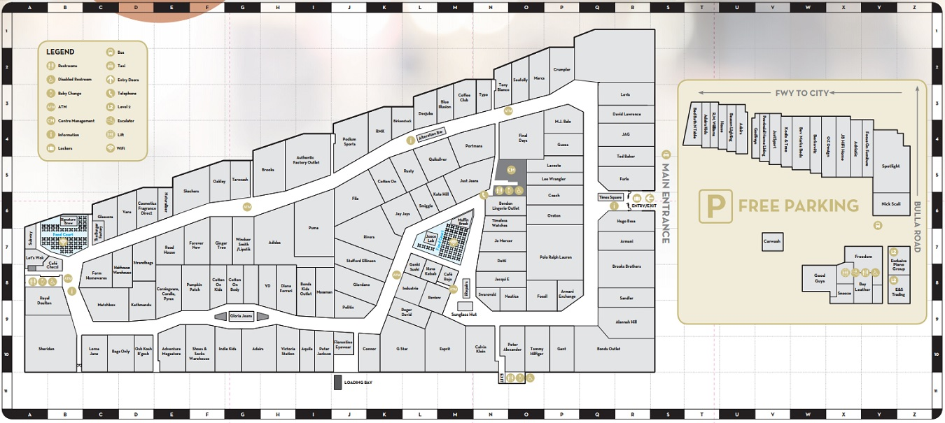886a2acd4 Lacoste in DFO Essendon - store location plan