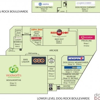 Plan of Dog Rock Boulevarde Shopping Centre