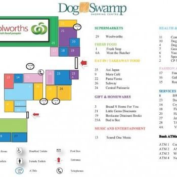 Plan of Dog Swamp Shopping Centre