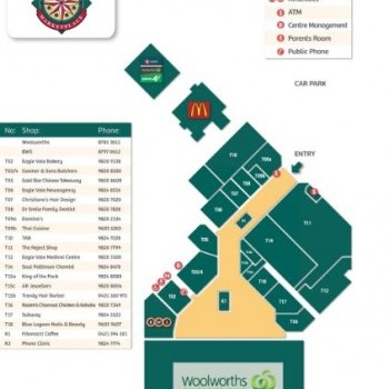 Plan of Eagle Vale Marketplace