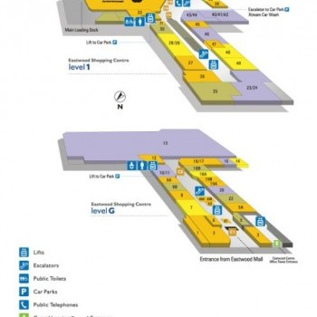 Plan of Eastwood Shopping Centre