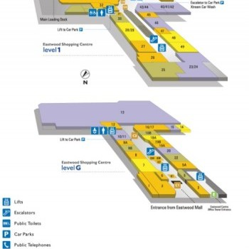 Plan of Eastwood Village Shopping Centre