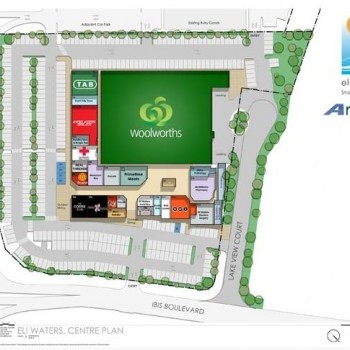 Plan of Eli Waters Shopping Centre