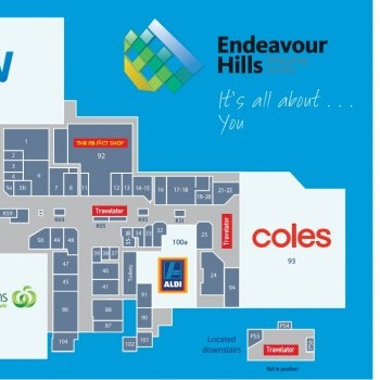 Plan of Endeavour Hills Shopping Centre