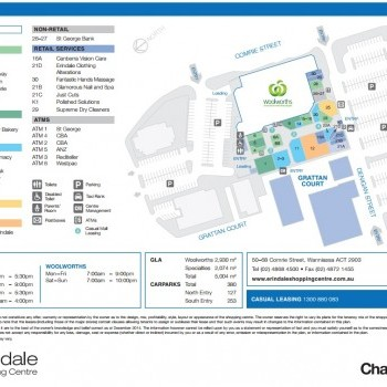 Plan of Erindale Shopping Centre