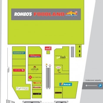 Plan of Fairview Park Shopping Centre