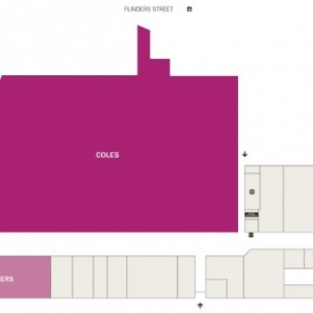 Plan of Flinders Square Shopping Centre