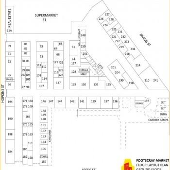 Plan of Footscray Market