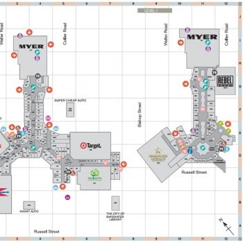 Plan of Galleria Shopping Centre