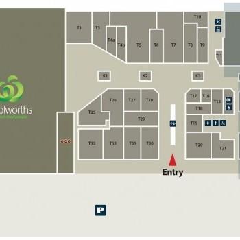 Plan of Glenrose Village Shopping Centre
