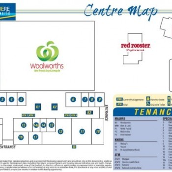 Plan of Gracemere Shoppingworld