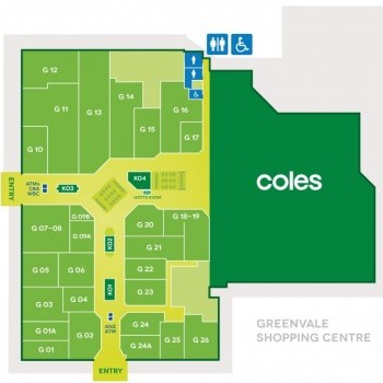 Plan of Greenvale Shopping Centre