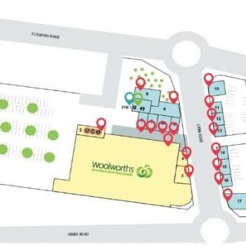 Plan of Harvest Lakes Shopping Centre