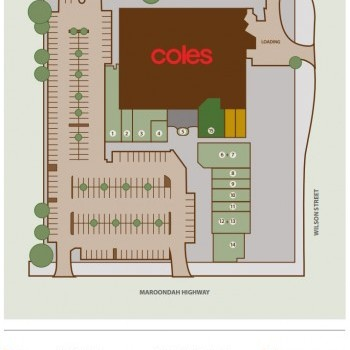 Plan of Healesville Walk Shopping Centre