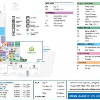Plan of Highlands Marketplace