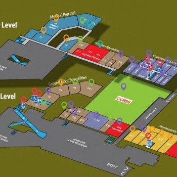 Plan of Illawong Village Shopping Centre