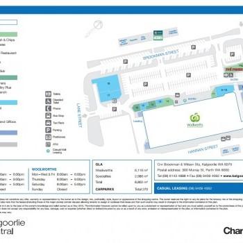 Plan of Kalgoorlie Central Shopping Centre