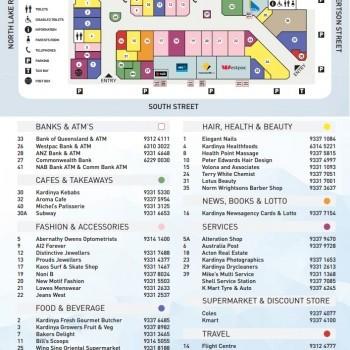 Plan of Kardinya Park Shopping Centre