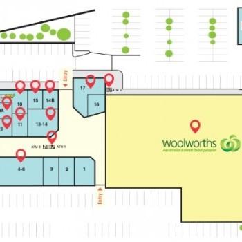 Plan of Kelmscott Plaza