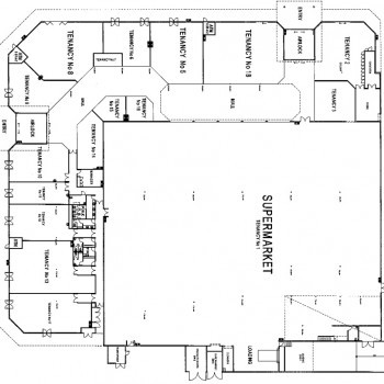 Plan of Kinross Central Shopping Centre