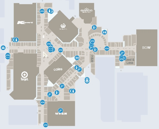 Joondalup Shopping Centre Map Lakeside Joondalup Shopping City   Joondalup, Western Australia