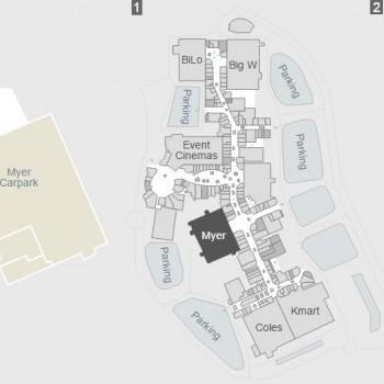 Plan of Logan Hyperdome Shopping Centre