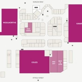 Plan of Maddington Central Shopping Centre