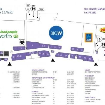 Plan of Majura Park Shopping Centre