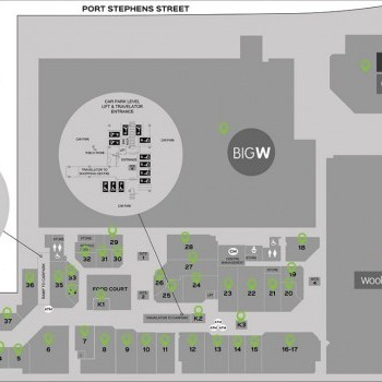Plan of MarketPlace Raymond Terrace