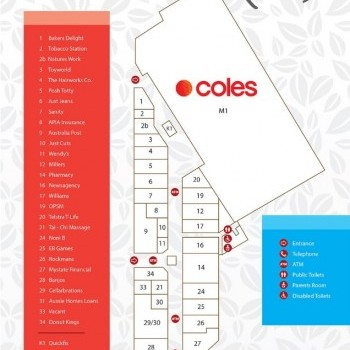 Plan of Meadow Mews Shopping Centre