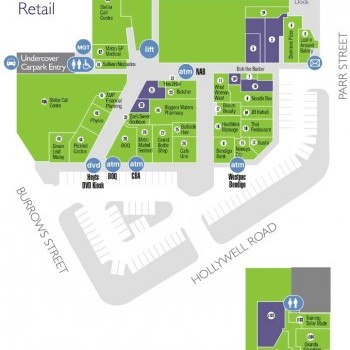 Plan of Metro Market Shopping Centre